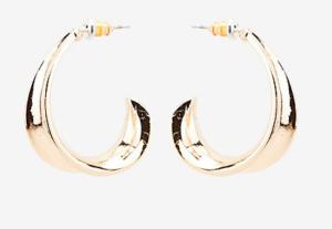 Le Chateau gold hoop earrings